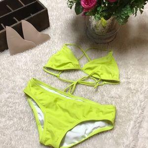 Like New O'Neill fluorescent bikini